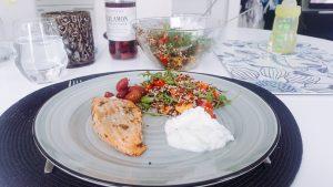 Salmon with quinoa