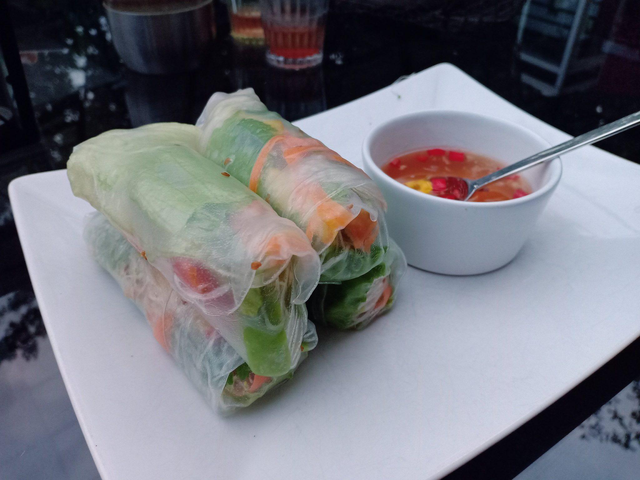 homemade Vietnamese springrolls