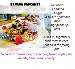 recipe banana panncakes