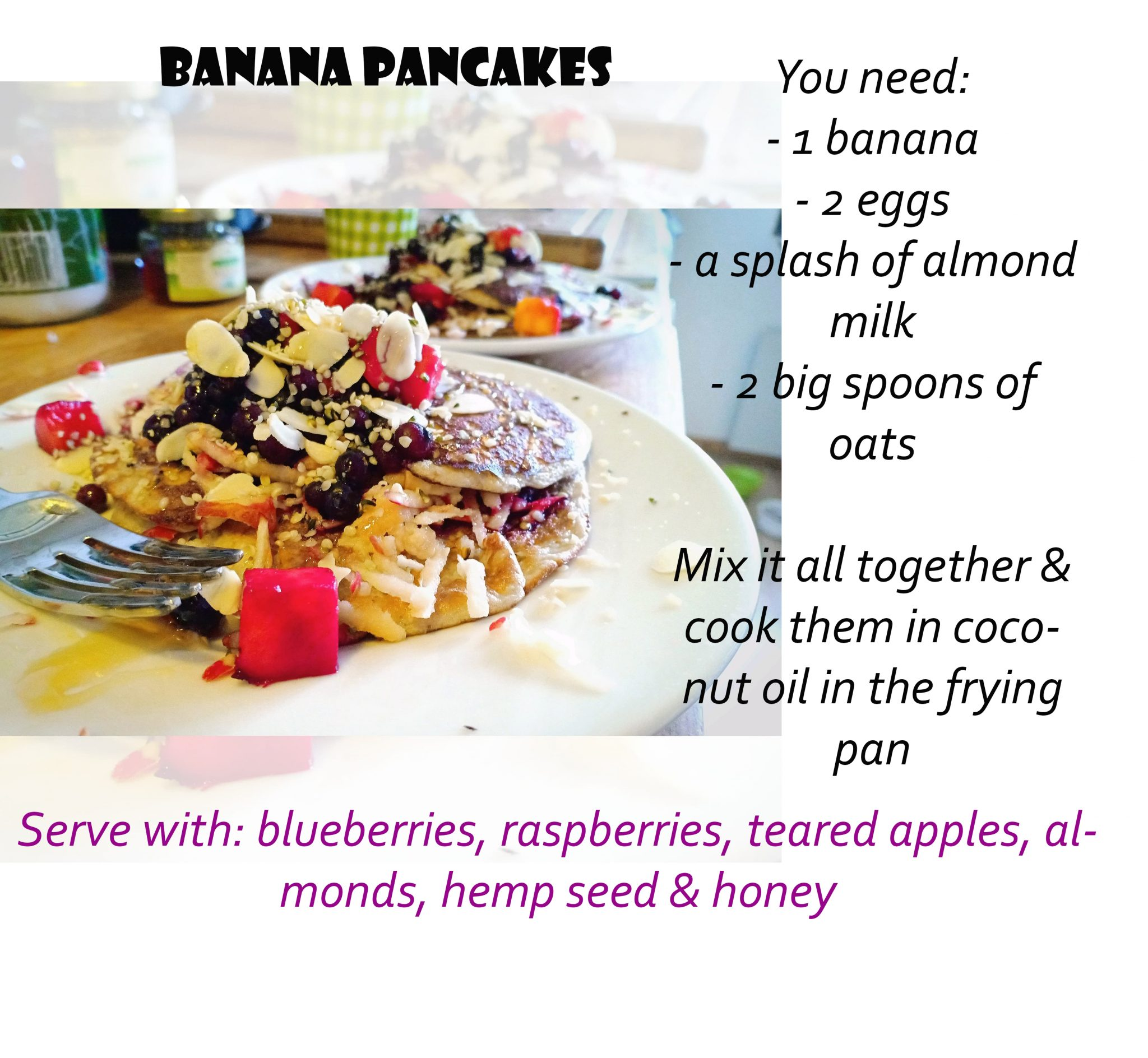 recipe banana panncakes