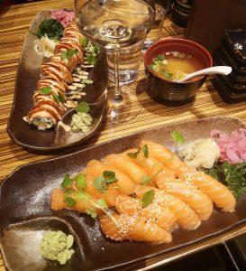 sushi at pong sushi bar stockholm