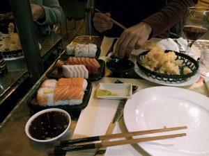 sushi och japansk buffe