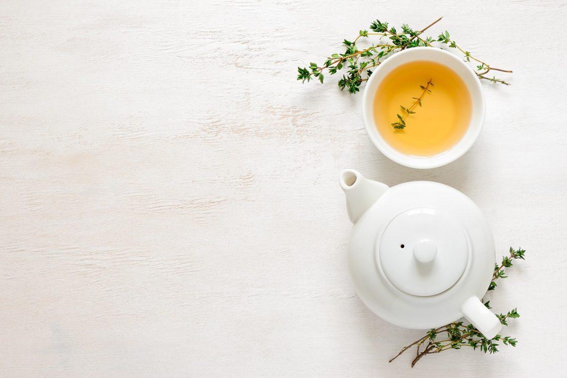 grönt te och citron