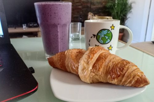 frukost vid datorn