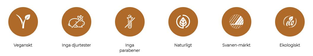 ekologisk hudvård utan parabener och ej djurtestat