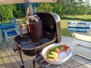 grillad lax