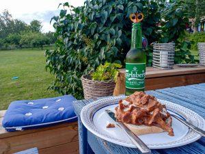 Kantarelltoast och öl