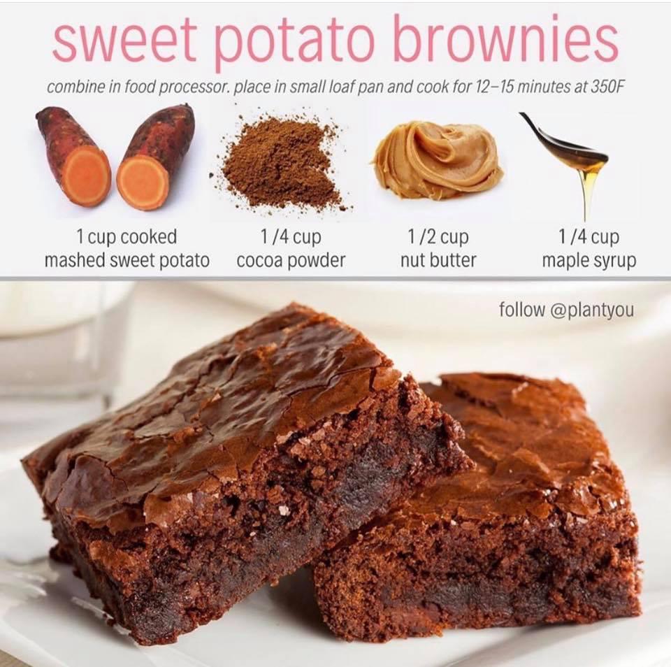 sötpotatis brownie