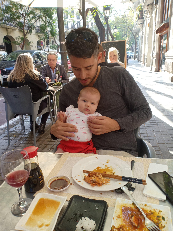 bebis och pappa