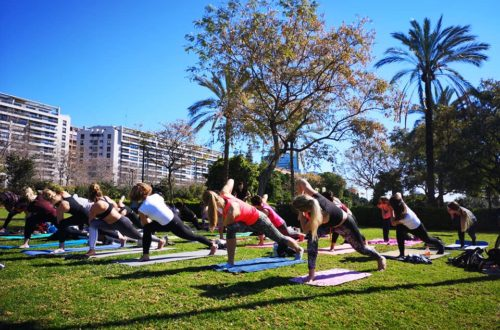 yoga i parken