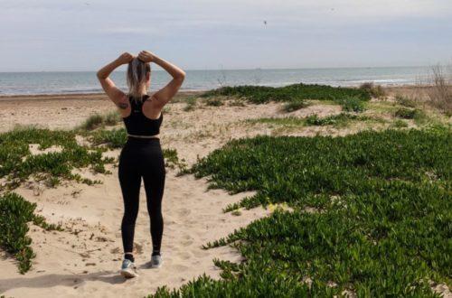 träning på stranden