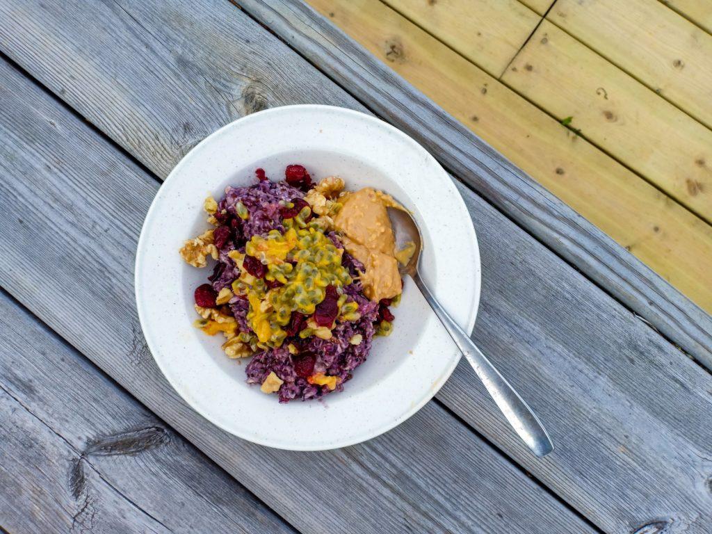 blåbärs quinoagröt